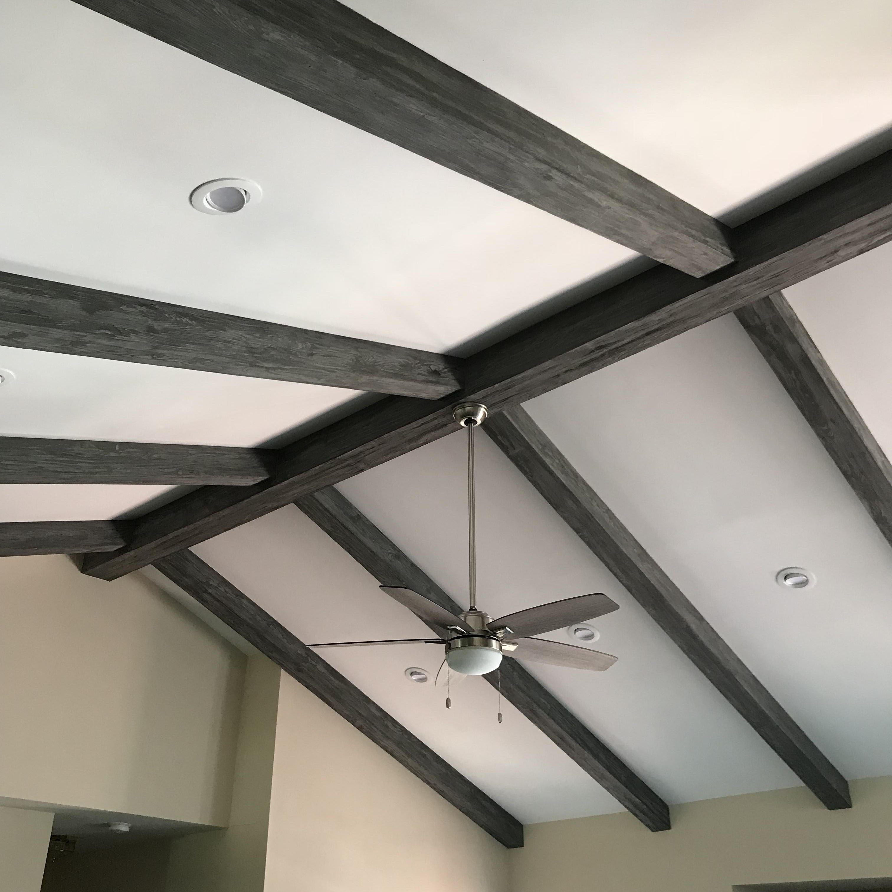 cathedral ceilings with wood beams