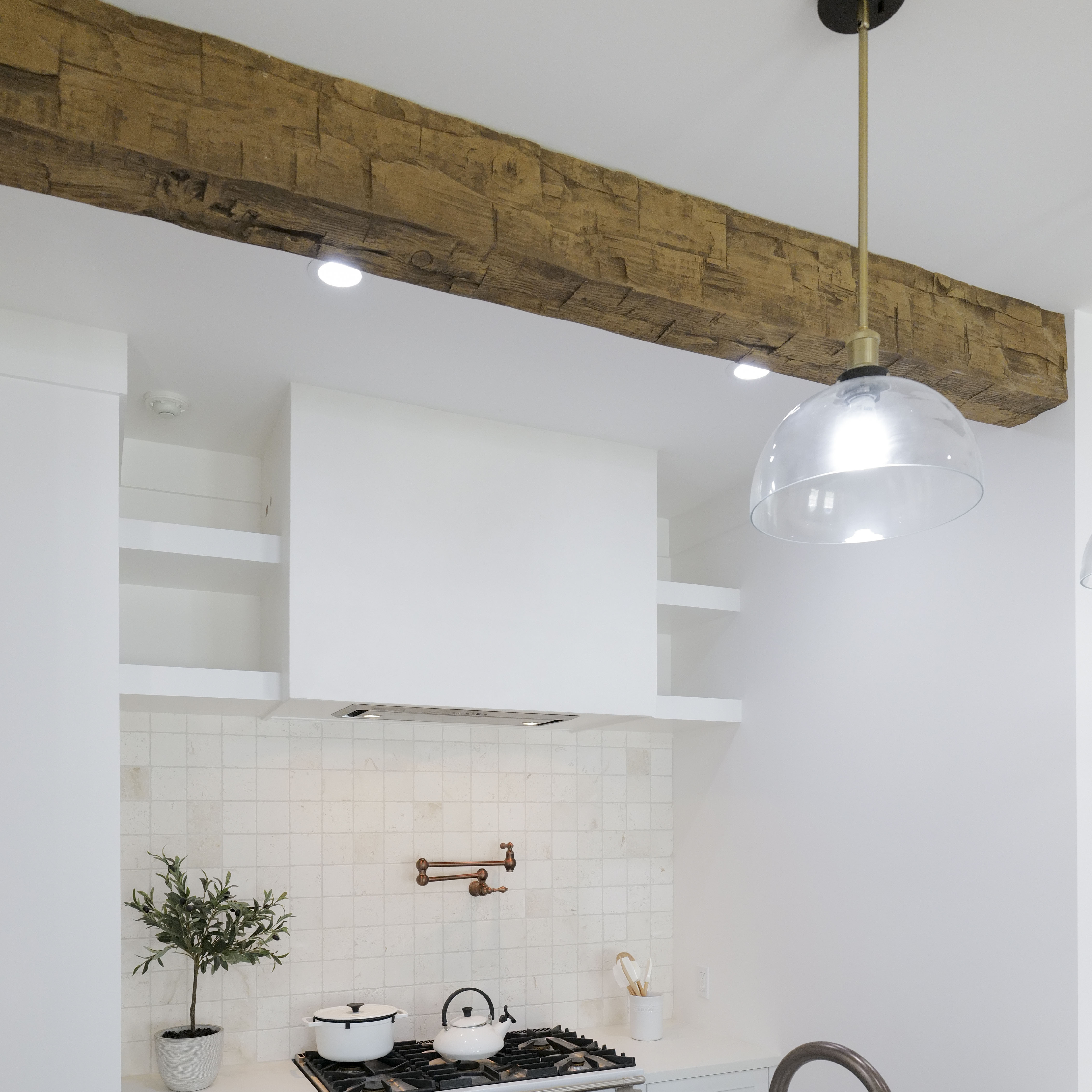 Suspended Beam Spanning Two Walls