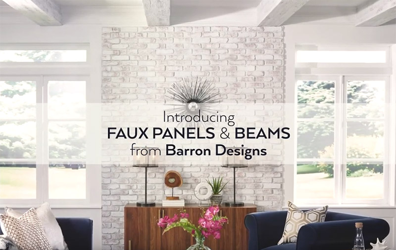 Get Inspired by Faux Panels and Beams