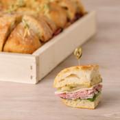 Ham & Provolone Finger Sandwiches