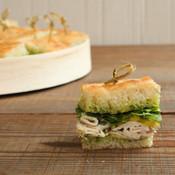 Turkey Pesto and Pickled Fennel Finger Sandwiches Platter