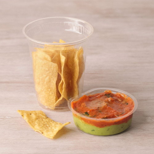 Tortilla Chips and Guacamole Cups