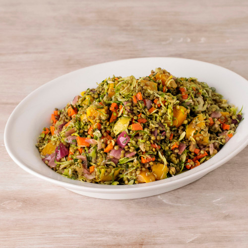 Lentil, Golden Beet & Brussels Sprouts Salad