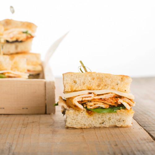 Achiote Chicken Finger Sandwiches Platter