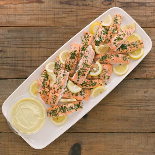 Slow Roasted Skuna Salmon with Lemon Aioli