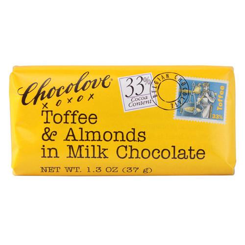Chocolove Toffee & Almond Chocolate Bar