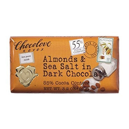 Chocolove Almond & Sea Salt Chocolate Bar