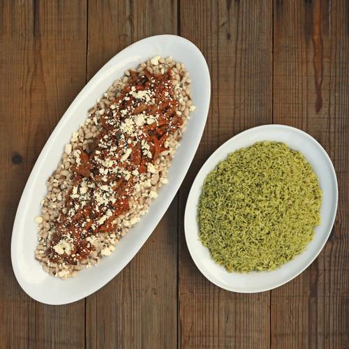 Hot - Mushroom Carnitas & Arroz Verde Platter