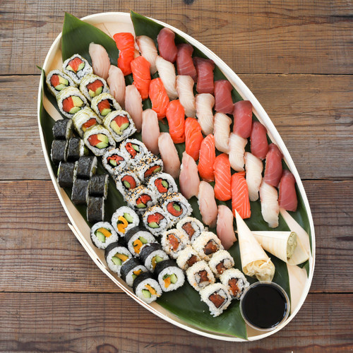 Sustainable Sushi Roll and Nigiri Combo Platter -  Large