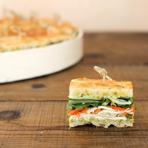 Lemongrass Chicken Banh Mi Finger Sandwiches