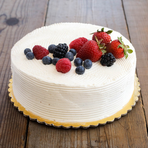 Bi-Rite Creamery Vanilla Cake with Berries