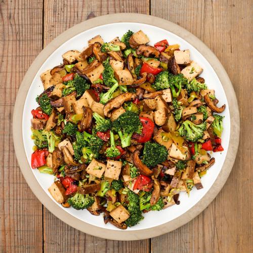 Sesame Honey Tofu Broccoli Salad