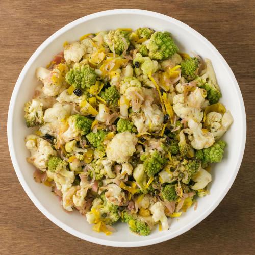 Roasted Romanesco and Cauliflower Salad