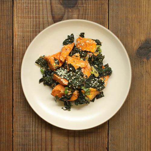 Roasted Sweet Potato & Kale Side Salad