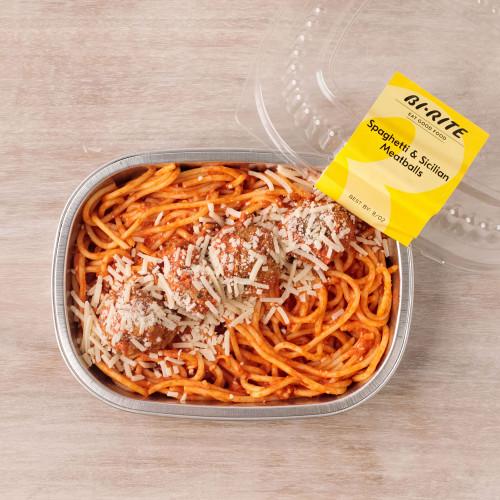 Spaghetti & Sicilian Meatballs