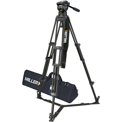 Miller CX14 Toggle 2-Stage Aluminum Alloy Tripod System with Ground Spreader