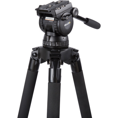Miller CX14 Sprinter II, 2 Stage Aluminum Alloy Tripod System with Rubber Feet and Mid-Level Spreader