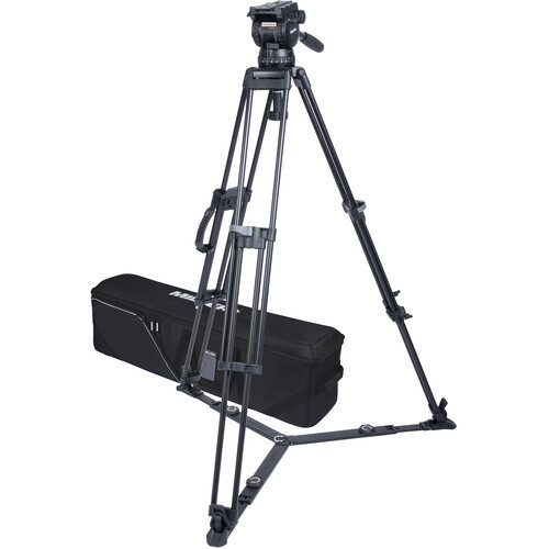 Miller CX14 Sprinter II 1-Stage Aluminum Alloy Tripod System with Ground Spreader