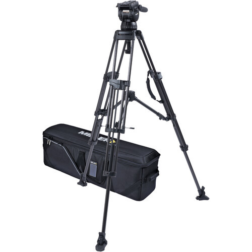 Miller CX14 Sprinter II, 2 Stage Carbon Fiber Tripod System with Rubber Feet and Mid-Level Spreader