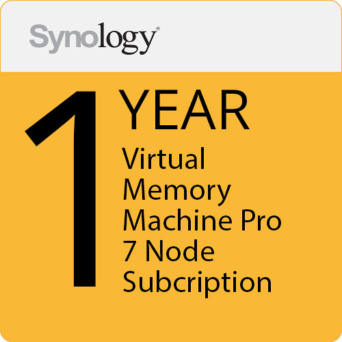 Synology Virtual Machine Manager Pro License (7 Nodes, 1-Year License)