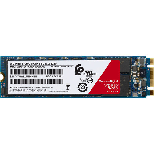 Western Digital 1TB Red SA500 SATA III M.2 Internal NAS SSD