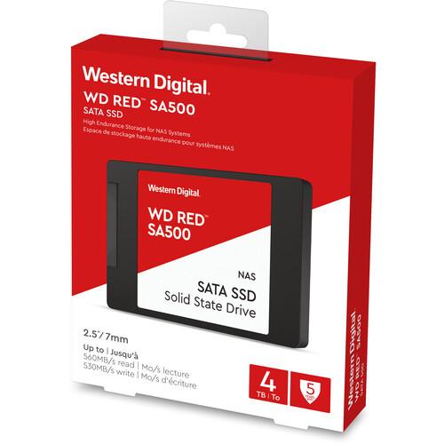 "Western Digital 4TB Red Solid State Drive 2.5"" Internal Sata (Sata/600)"