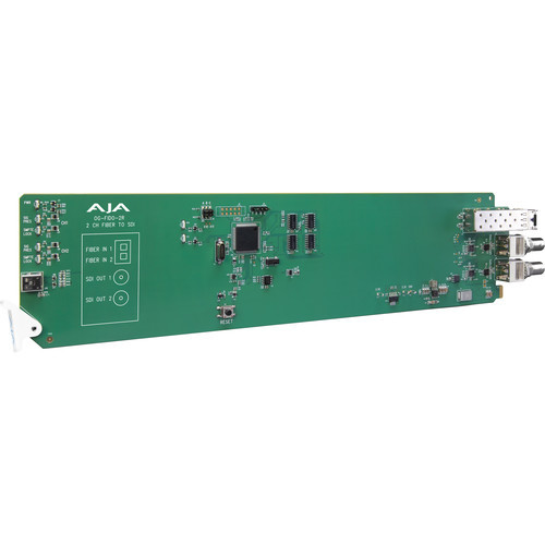 AJA 2-Channel Multi-Mode LC Fiber To 3G-SDI Receiver With Dashboard Support