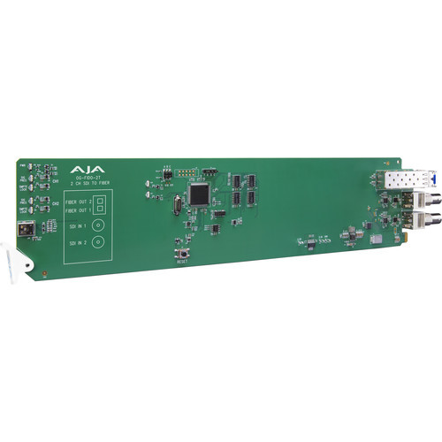 AJA 2-Channel 3G-SDI To Single Mode LC Fiber Transmitter With Dashboard Support