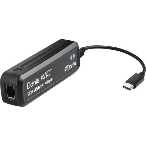 Audinate Dante AVIO 2x2 USB Type-C I/O Adapter for Dante Audio Network