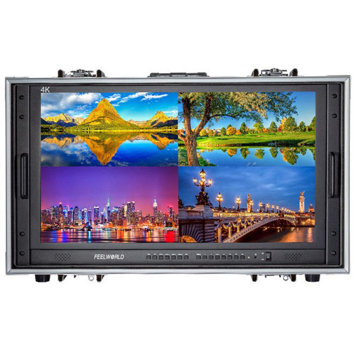 FeelWorld Seetec 28' 4K Quad View Carry-On Broadcast Monitor