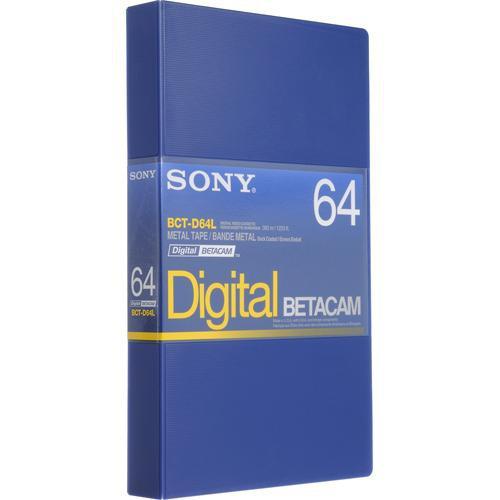 Sony BCT-D64L 64 Minute Digital Betacam Video Cassette in Album Case (Large)