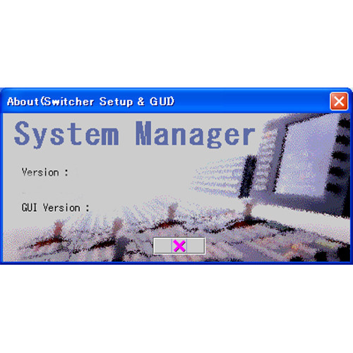 Sony Switcher Setup Software for BZPS-8000