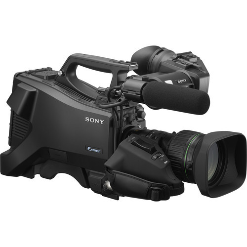 "Sony Full HD Studio Camera with 3.5"" Portable Viewfinder, Mic, and 20x Lens"