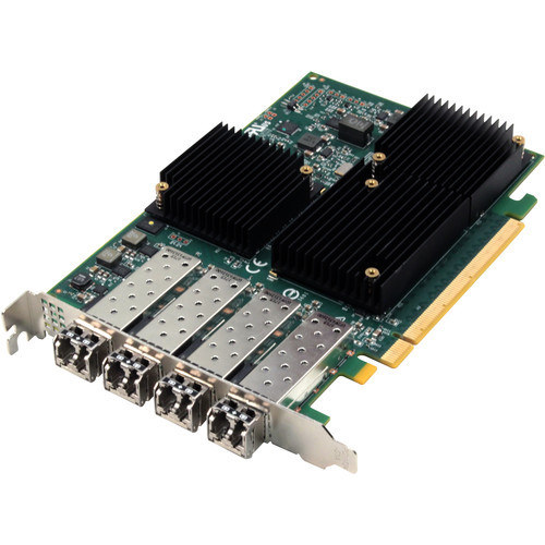 ATTO Celerity FC-324E Quad-Channel 32 Gbps Fibre Channel PCIe 3.0 Host Bus Adapter with SFPs