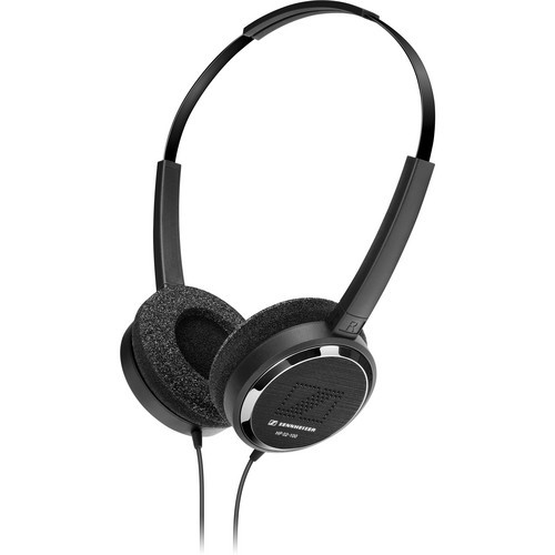 Sennheiser HP 02-100 Lightweight On-Ear Headphones with 3.5mm Stereo Straight Connector (20-Pack)