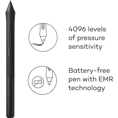 Wacom Intuos Bluetooth Creative Pen Tablet (Small, Black)