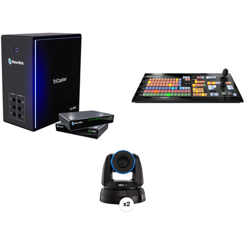 NewTek TriCaster Mini 4K Deluxe Bundle with Control Panel and Two PTZ1 Cameras