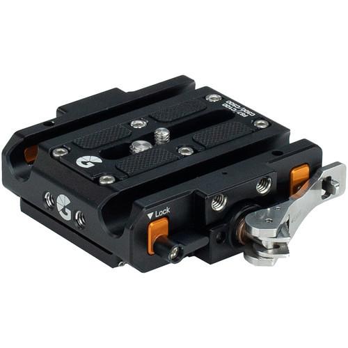 Bright Tangerine Left Field Quick Release Baseplate for Sony FS7/FS7 II/FX9 & Canon C100/C300/C500
