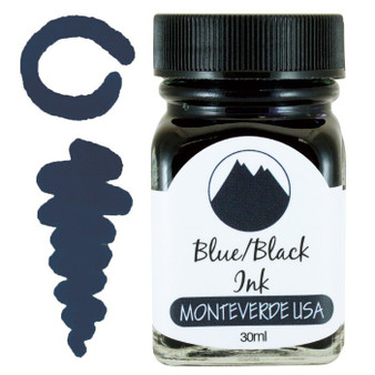 Monteverde USA 30ml Fountain Pen Ink Bottle Blue/Black
