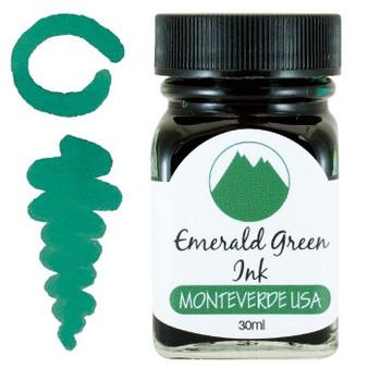 Monteverde USA 30ml Fountain Pen Ink Bottle Emerald Green