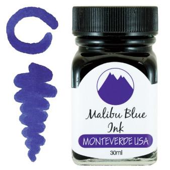 Monteverde USA 30ml Fountain Pen Ink Bottle Malibu Blue