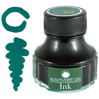 Monteverde USA 90ml Fountain Pen Ink Bottle California Teal