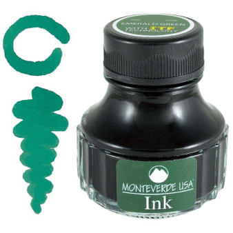Monteverde USA 90ml Fountain Pen Ink Bottle Emerald Green