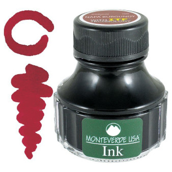Monteverde USA 90ml Fountain Pen Ink Bottle Napa Burgundy