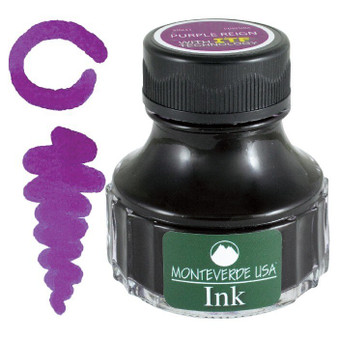 Monteverde USA 90ml Fountain Pen Ink Bottle Purple Reign