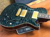 PRS Paul Reed Smith PS 1929 Single Cut Hollowbody II Blue Green Quilt