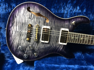 PRS Wood Library 594 Semi Hollow Charcoal Purple Burst