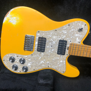Friedman Vintage T Maple Fretboard Alder Body Graffiti Yellow