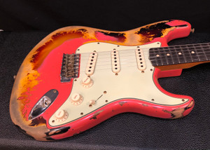 Fender Custom Shop NAMM 20 Ltd 1960/63 Super Relic 2020 Aged Fiesta Red over 3Tone Sunburst