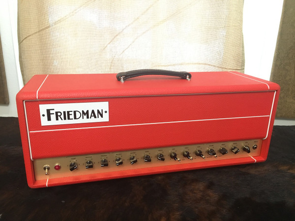 Friedman BE 50 Deluxe 3 Channel Red Bronco Tolex Head